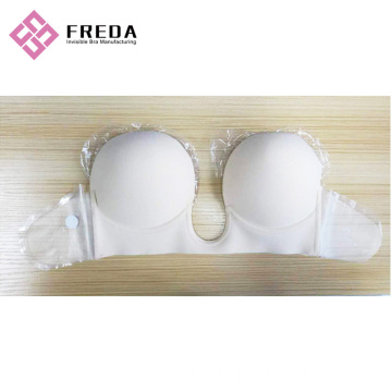 Fashion Deep U Plunge Backless Strapless Bra